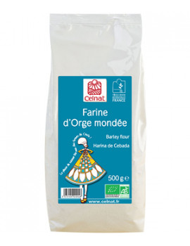Farine d'Orge mondée 500gr Celnat - produit alimentaire santé