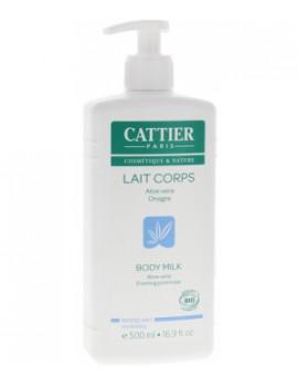 Lait corps hydratant modelant Aloe Vera et Onagre 500ml Cattier - produit de soin pour le corps