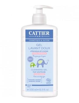 Gel lavant doux bébé   500ml Cattier - cosmétique bébé bio