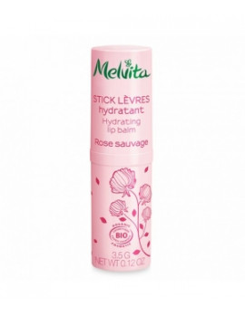 Stick lèvres hydratant Rose Sauvage 3,5g Melvita - soin des lèvres bio