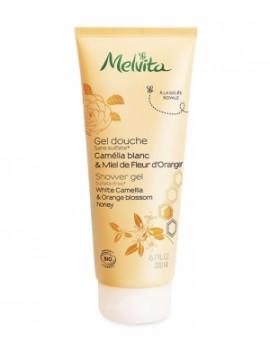 Gel douche camélia & miel de fleur d'oranger 200 ml Melvita - cosmétique d'hygiène bio