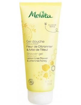 Gel douche fleur de citronnier & miel de tilleul 200ml Melvita - cosmétique d'hygiène bio