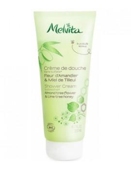 Crème de douche fleur d'amandier miel de tilleul 200 ml Melvita - cosmétique biologique