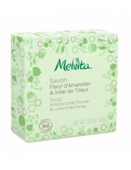 Savon Fleur d'amandier et miel de tilleul  100g Melvita - savon traitant bio