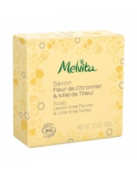 Savon Fleur de citronnier et miel de tilleul  100g Melvita - savon hydratant bio