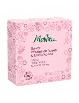 Savon Pétales de rose miel d'acacia  100 gr Melvita
