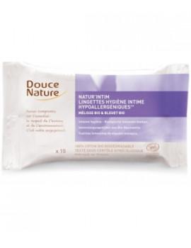 15 Lingettes hygiène intime écologiques et biodégradables  Douce Nature - hygiène intime bio