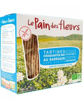 Tartines craquantes au Sarrasin sans sel sans saccharose ajoutés 150 gr Le Pain des Fleurs - produit alimentaire santé bio