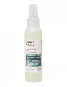 Spray Déodorant Homme au Vétiver Bio 125 ml Douce Nature
