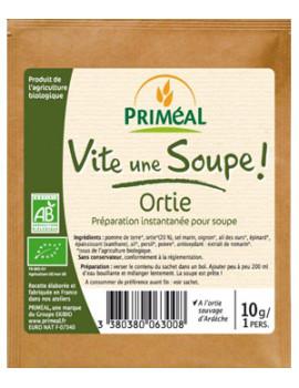 Vite une soupe Ortie sauvage d'Ardèche sachet individuel 10 gr Primeal - aliment bio