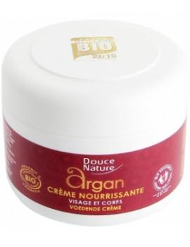 Crème nourrissante visage et corps à l'huile d'Argan beurre de Karité 200 ml Douce Nature - soin bio pour le corps