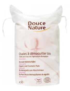 50 Ovales à démaquiller coton bio 50 gr Douce Nature - soin du visage