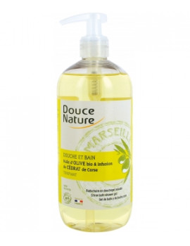 Douche  et  Bain cédrat de Corse 500ml Douce Nature - cosmétique naturel