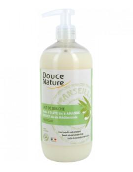 Lait de douche amande douce bio de Méditerranée 500ml Douce Nature - cosmétique d'hygiène naturelle