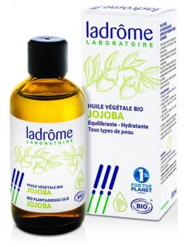 Huile végétale de Jojoba Bio 100ml Ladrome - produit de soin de la peau et des cheveux