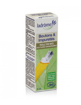 Roll on Boutons et Impuretés 5ml Ladrome - soin pour le visage - peaux jeunes