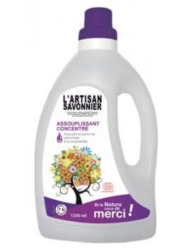 Assouplissant Concentré Lavandin 1,5 litre L'artisan savonnier - produit d'entretien ménager