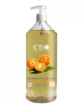 Cebio Bain et douche Agrumes Mandarine Orange 1L  - gel douche bio