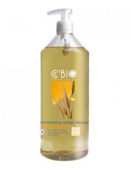 Shampooing usage fréquent Miel Calendula Avoine 1 Litre Cbio - produit d'hygiène bio pour les cheveux