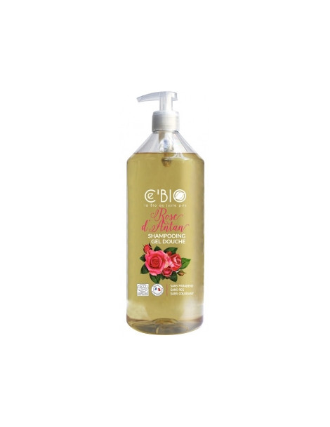 shampooing douche Rose d'Antan 1 Litre Cbio - produit d'hygiène bio  pour le corps