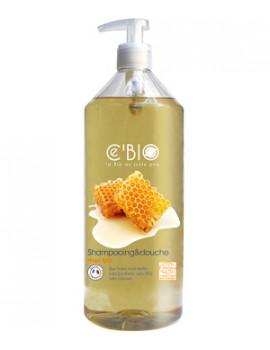 Shampooing douche Miel 1 Litre C'bio - produit d'hygiène bio pour les cheveux