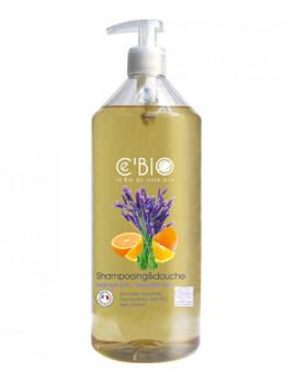 shampooing douche Orange Lavande 1 Litre Cbio - shampoing bio