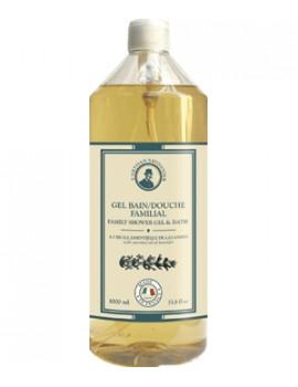 Gel bain douche familial à l'huile essentielle de Lavandin 1L L'Artisan savonnier - produit de nettoyage pour le corps