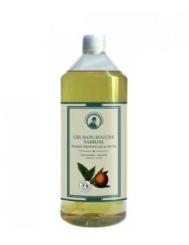 Gel bain douche familial Mandarine Orange 1L L'Artisan savonnier - produit de nettoyage pour le corps
