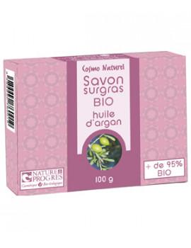 Savon surgras huile d'argan 100 gr Cosmo Naturel - produit d'hygiène bio pour le corps