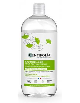 Eau Micellaire pour toute la famille 500 ml Centifolia - produit de nettoyage pour le visage