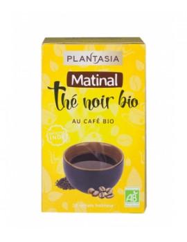 Thé noir Matinal 20 sachets Plantasia - thé biologique