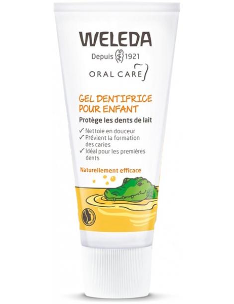 Gel dentifrice enfant dents de lait 50ml Weleda - produit de nettoyage pour les dents