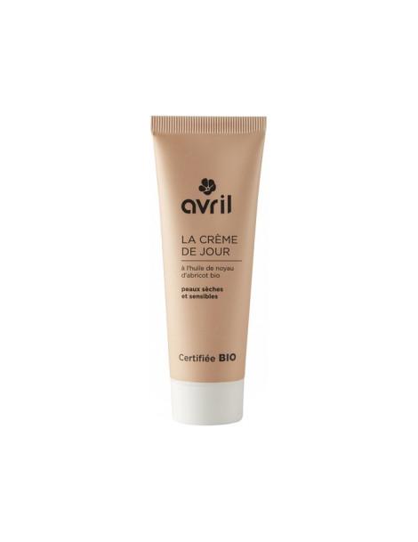 Crème de jour peau sèche et sensible Huile Noyau Abricot 50 ml Avril Beauté - soin bio pour le visage