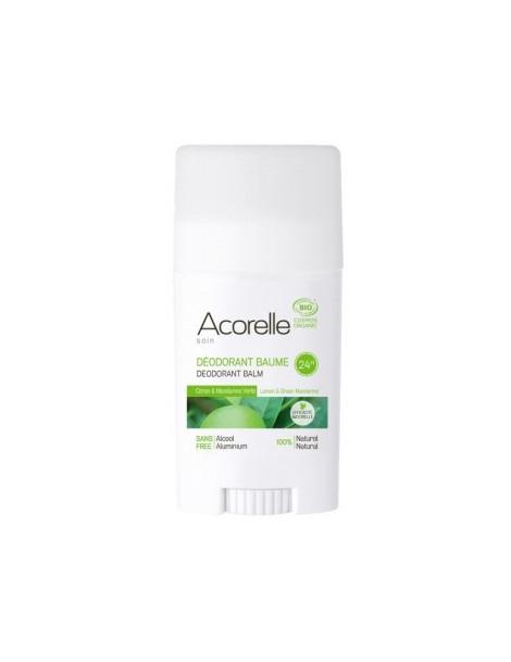 Déodorant Baume Citron Mandarine verte  40g Acorelle  - produit d'hygiène biologique