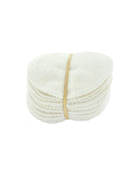 Lot 12 lingettes à démaquiller en chanvre et coton biologique 12 unités Lulu Nature - produit d'hygiène pour le visage abcbeauté