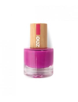 Vernis à ongles 661 Fuchsia 8 ml Zao - produit de maquillage biologique