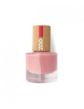 Vernis à ongles 662 Rose poudré  8 ml Zao - produit de maquillage biologique