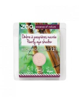 Recharge ombre à Paupières 121 Ivoire lumière nacré 3 gr Zao - produit de maquillage biologique