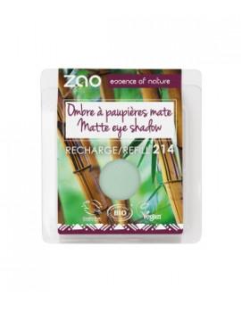 Recharge ombre à Paupières 214 Vert deau mat 3 g Zao - produit de maquillage bio écologique