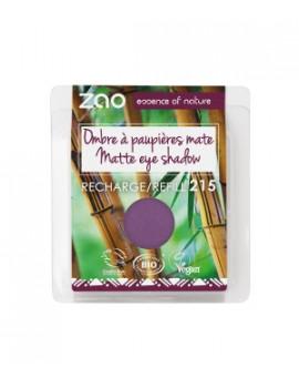 Recharge ombre à Paupières 215 Violet pourpre mat 3 gr Zao - produit de maquillage bio