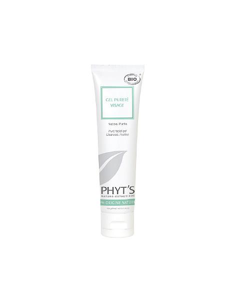 Gel pureté visage 100ml Phyts - soin nettoyant bio pour le visage - abcbeaute