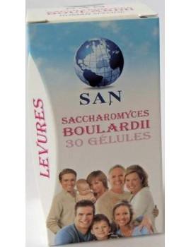 Saccharomyces Boulardii  Levure 30 gelules SAN Human Specific