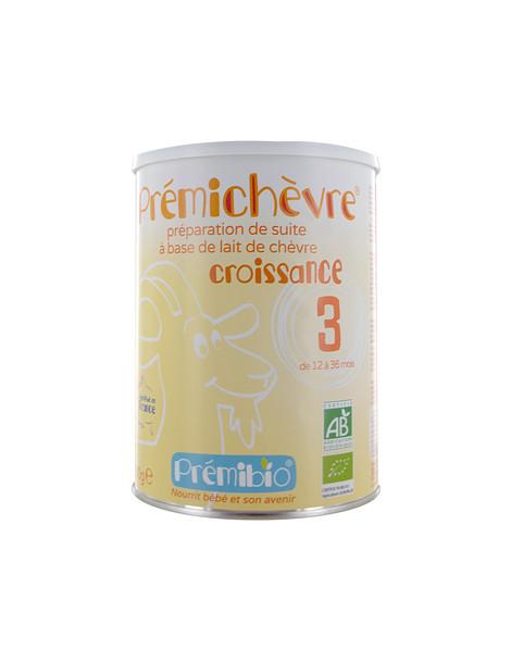 Lait de croissance prémichèvre sans gluten 12 à 36 mois  900 gr Prémibio - aliment pour bébé