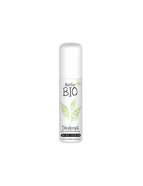 Déodorant spray Thé vert  75ml Marilou Bio - déodorant bio abcbeauté
