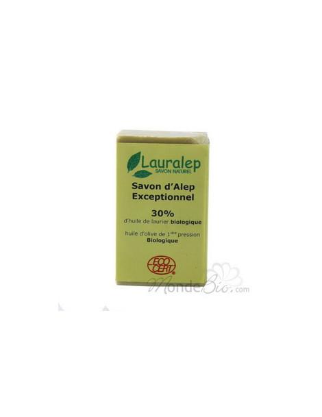 Savon d'Alep Exceptionnel 30% huile de Laurier  150g Lauralep - produit d'hygiène bio pour le corps