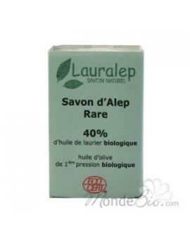 Savon d'Alep Rare 40 % huile de Laurier 150 gr Lauralep - savon d'alep bio abcbeauté