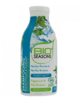 Shampooing purifiant rafraîchissant 300 ml Bio Seasons - shampooing bio abcbeauté