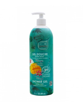 Gel douche Mangue format familial  1 Litre Bio Seasons