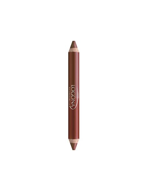 Rouge à lèvres duo crayon n°2 chesnut 2.98g Logona - produit de maquillage bio abcbeauté