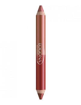 Rouge à lèvres duo crayon n°5 Ruby Red 2.98g Logona - produit de maquillage bio abcbeaute